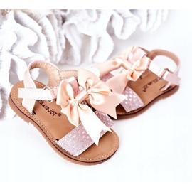 FR1 Sandale pentru copii cu arc Bow Beebee roz 3