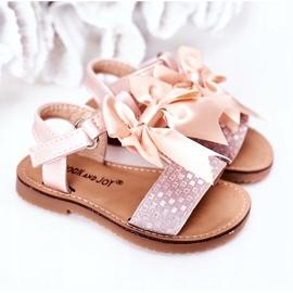 FR1 Sandale pentru copii cu arc Bow Beebee roz 4