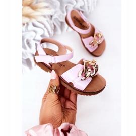 FR1 Sandale pentru copii cu lanț Violet Buffy 1