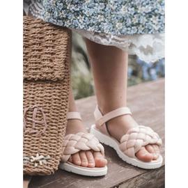 FR1 Sandale pentru copii cu Adella roz împletit 10