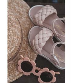 FR1 Sandale pentru copii cu Adella roz împletit 1
