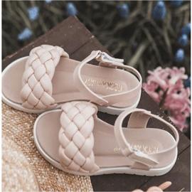 FR1 Sandale pentru copii cu Adella roz împletit 11