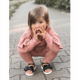 FR1 Sandale pentru copii cu arc Bow Abbie negru 1