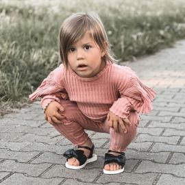FR1 Sandale pentru copii cu arc Bow Abbie negru 7