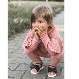 FR1 Sandale pentru copii cu arc Bow Abbie negru 6