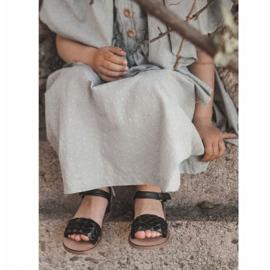 FR1 Sandale pentru copii cu Bailly negru împletit 1