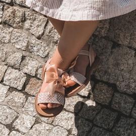 FR1 Sandale pentru copii cu arc Bow Beebee roz 5