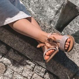 FR1 Sandale pentru copii cu arc Bow Beebee roz 6