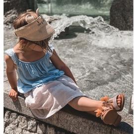 FR1 Sandale pentru copii cu arc Bow Beebee roz 8