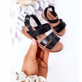 FR1 Sandale negre Natalie Shiny pentru copii negru 3