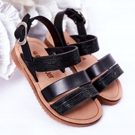FR1 Sandale negre Natalie Shiny pentru copii negru 2