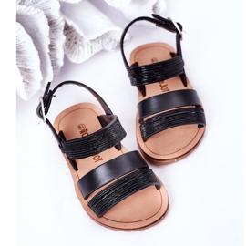 FR1 Sandale negre Natalie Shiny pentru copii negru 1