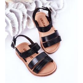 FR1 Sandale negre Natalie Shiny pentru copii negru 4