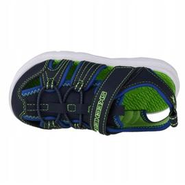 Skechers C-Flex Sandal 2.0 Heat Blast Jr 400041N-NVLM negru albastru marin 2