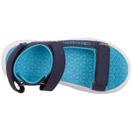 Sandale pentru copii Kappa Kana bleumarin și turcoaz 260886K 6766 albastru marin albastru 1