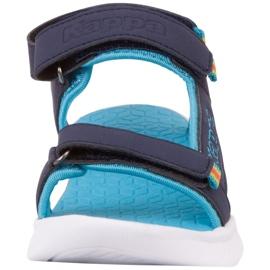 Sandale pentru copii Kappa Kana bleumarin și turcoaz 260886K 6766 albastru marin albastru 4