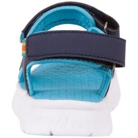 Sandale pentru copii Kappa Kana bleumarin și turcoaz 260886K 6766 albastru marin albastru 5