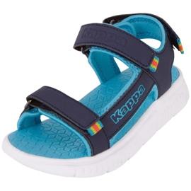 Sandale pentru copii Kappa Kana bleumarin și turcoaz 260886K 6766 albastru marin albastru 3