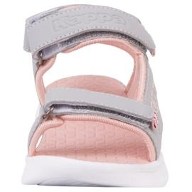 Sandale pentru copii Kappa Kana gri-roz 260886K 1421 4