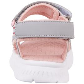 Sandale pentru copii Kappa Kana gri-roz 260886K 1421 5