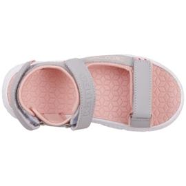 Sandale pentru copii Kappa Kana gri-roz 260886K 1421 1
