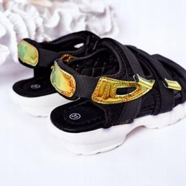 Sandale sport pentru copii cu Velcro Black Flyn negru 1