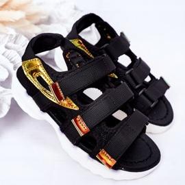 Sandale sport pentru copii cu Velcro Black Flyn negru 2
