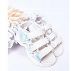 Sandale sport pentru copii cu velcro alb Flyn 1