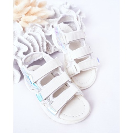 Sandale sport pentru copii cu velcro alb Flyn 4