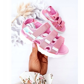 Sandale sport pentru copii cu velcro roz Flyn 3