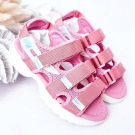 Sandale sport pentru copii cu velcro roz Flyn 2