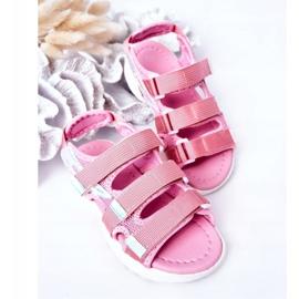 Sandale sport pentru copii cu velcro roz Flyn 1
