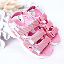 Sandale sport pentru copii cu velcro roz Flyn 4