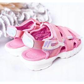 Sandale sport pentru copii cu velcro roz Flyn 5