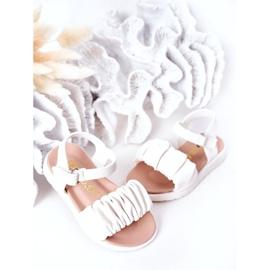 FR1 Sandale pentru copii cu velcro alb Aimy 3