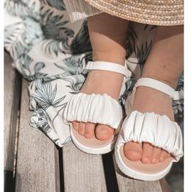 FR1 Sandale pentru copii cu velcro alb Aimy 4