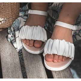 FR1 Sandale pentru copii cu velcro alb Aimy 5