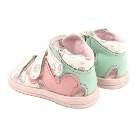 Sandale profilactice înalte Mazurek 1291 alb roz verde 3