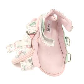 Sandale profilactice înalte Mazurek 1291 alb roz verde 5