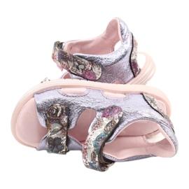 Sandale pe napi Mazurek 1314 Amethyst Pearl violet argint 3