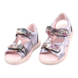 Sandale pe napi Mazurek 1314 Amethyst Pearl violet argint 1