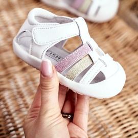 Apawwa Sandale pentru copii cu Velcro Glitter Alb Ontario roz de aur 4