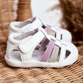Apawwa Sandale pentru copii cu Velcro Glitter Alb Ontario roz de aur 3