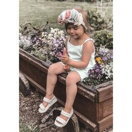 FR1 Sandale pentru copii cu cutie-plăcintă bej cu nervuri 6