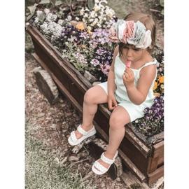 FR1 Sandale pentru copii cu cutie-plăcintă bej cu nervuri 7