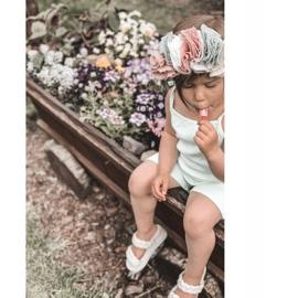 FR1 Sandale pentru copii cu cutie-plăcintă bej cu nervuri 5
