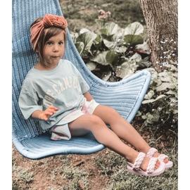 FR1 Sandale pentru copii cu cutie-plăcintă violet cu nervuri 7