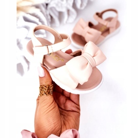 FR1 Sandale pentru copii cu arc Bow Abbie roz 3