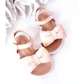 FR1 Sandale pentru copii cu arc Bow Abbie roz 1