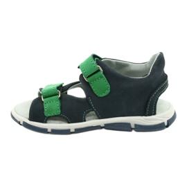 Sandale cu velcro Mazurek 314 bleumarin albastru marin verde 1